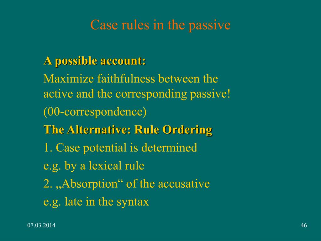 Case rules in the passive
