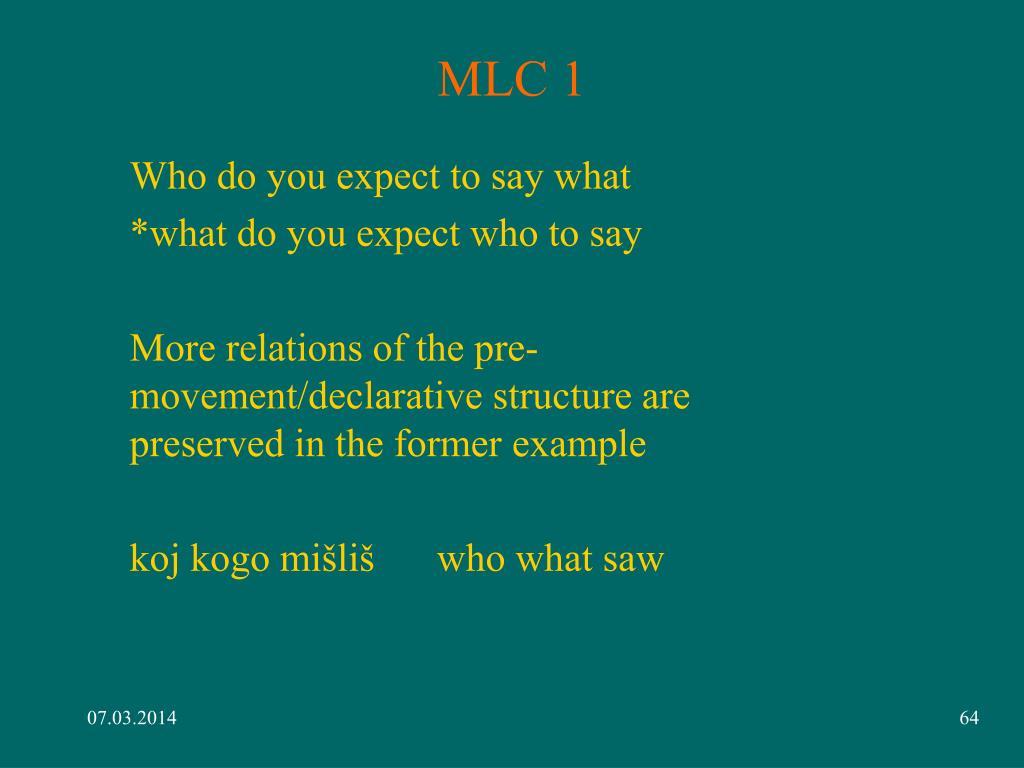 MLC 1