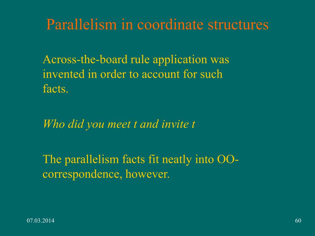 Parallelism in coordinate structures