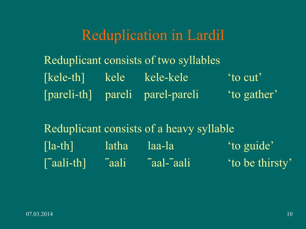 Reduplication in Lardil
