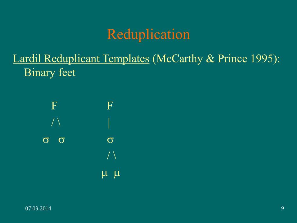 Reduplication