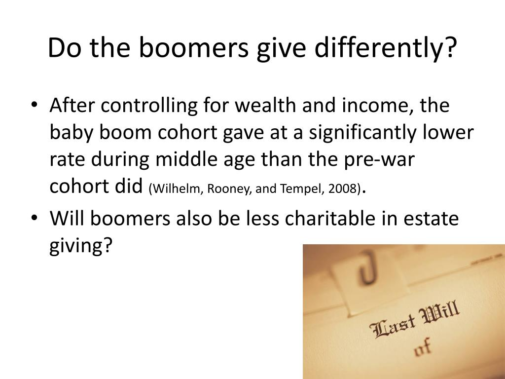 Do the boomers give differently?