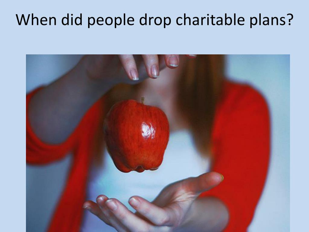 When did people drop charitable plans?