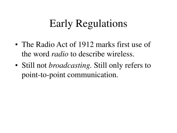 Early regulations3
