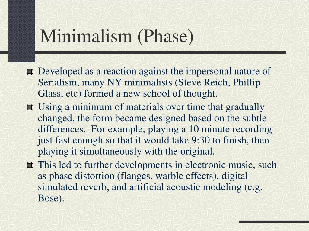 Minimalism (Phase)