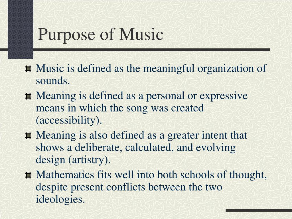 Purpose of Music