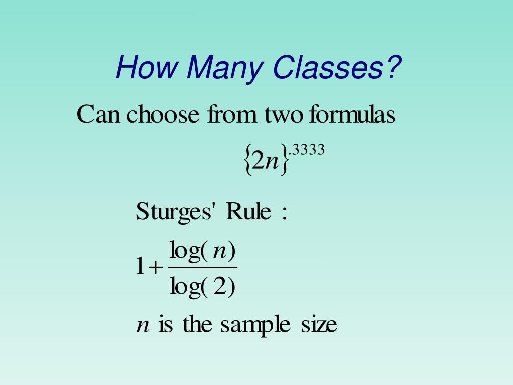 How Many Classes?