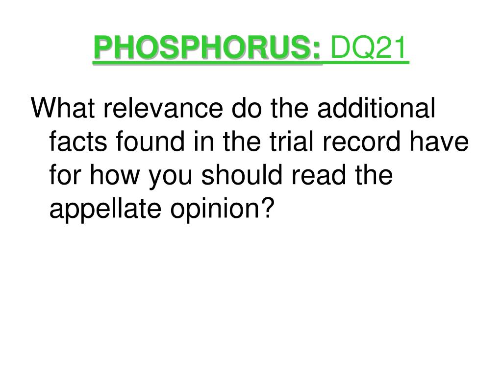 PHOSPHORUS: