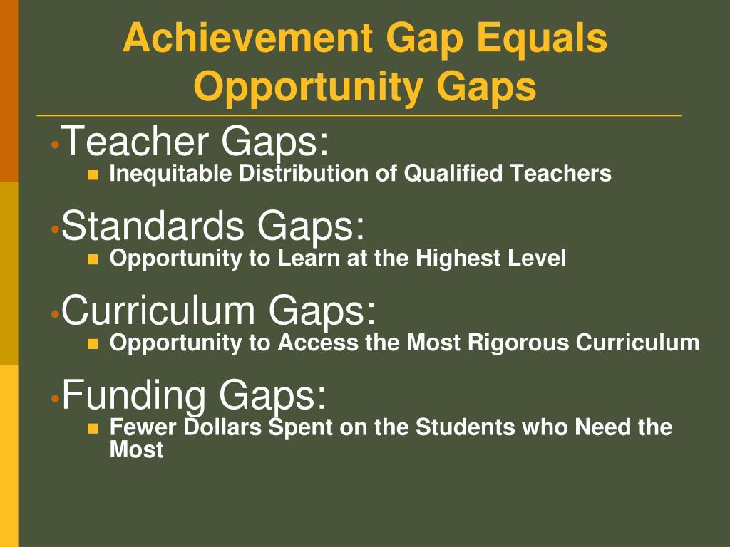 Opportunity Gap - Talking Points | Schott Foundation for ...