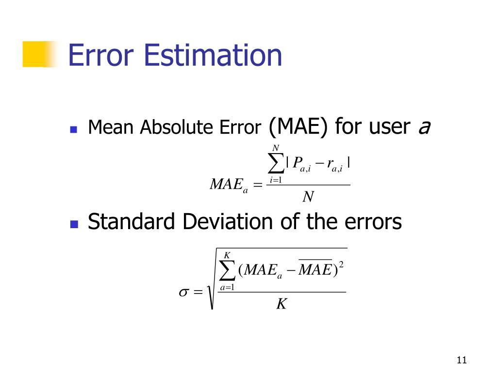 Error Estimation