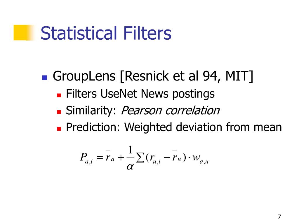 Statistical Filters