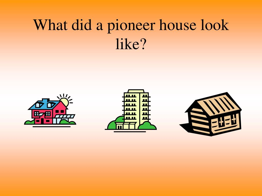 What did a pioneer house look like?