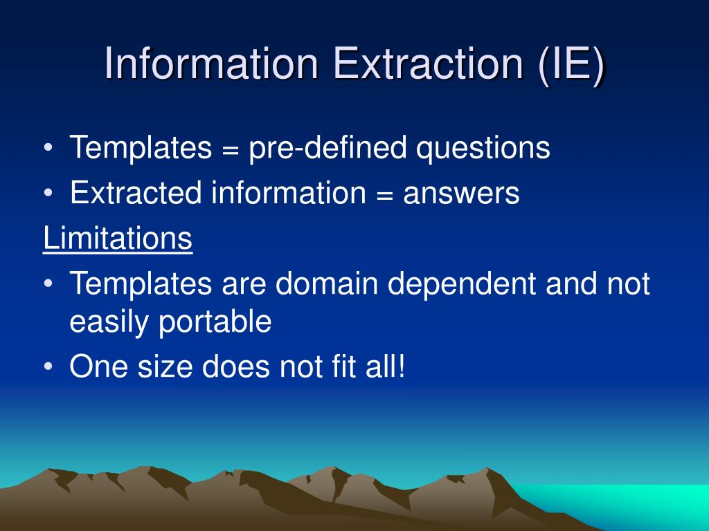 Information Extraction (IE)
