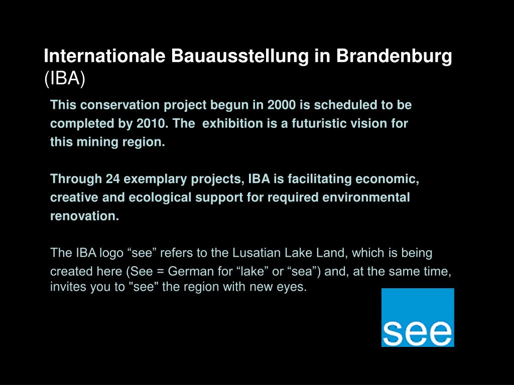 Internationale Bauausstellung in Brandenburg