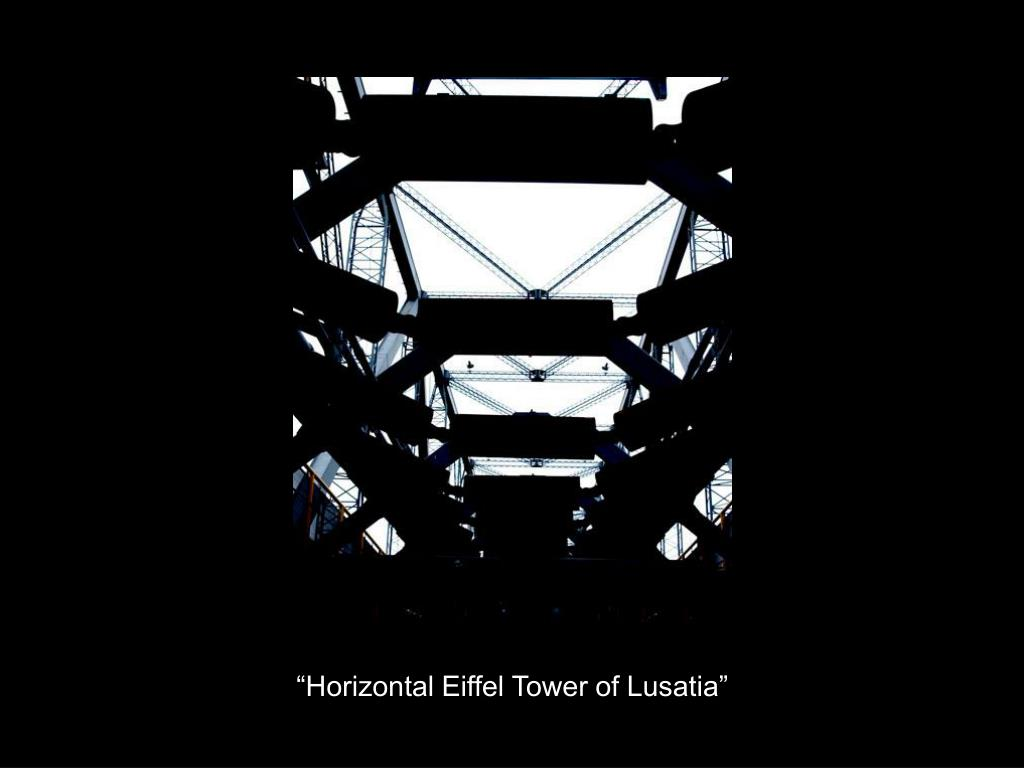 """Horizontal Eiffel Tower of Lusatia"""
