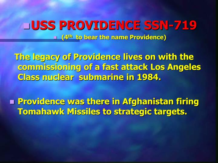 USS PROVIDENCE SSN-719
