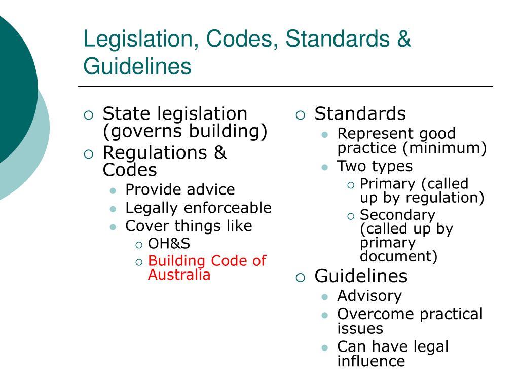 State legislation (governs building)