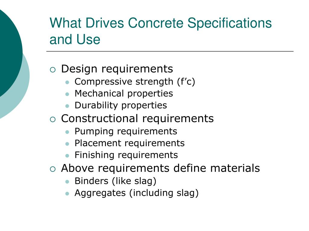 What Drives Concrete Specifications and Use