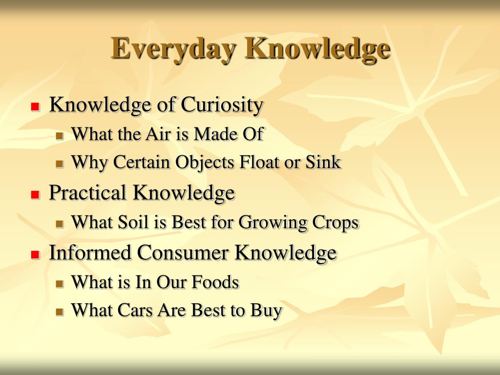 Everyday Knowledge