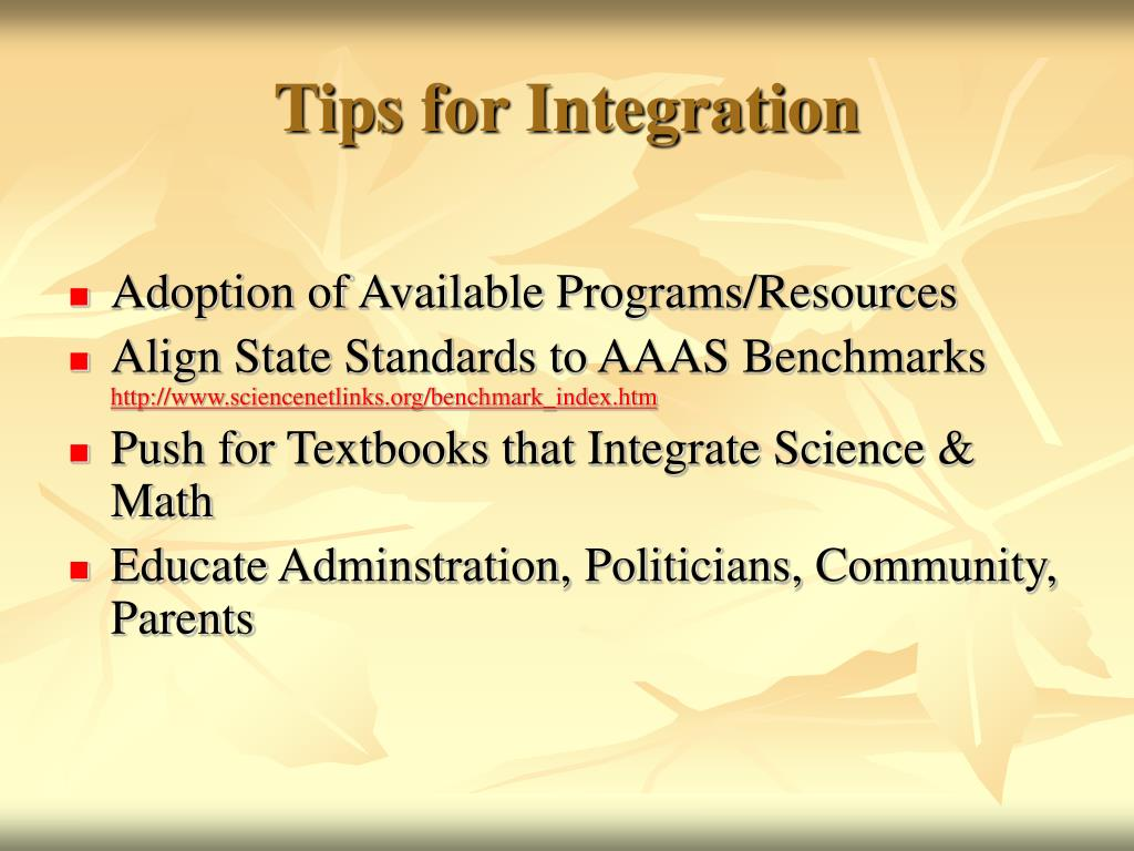Tips for Integration