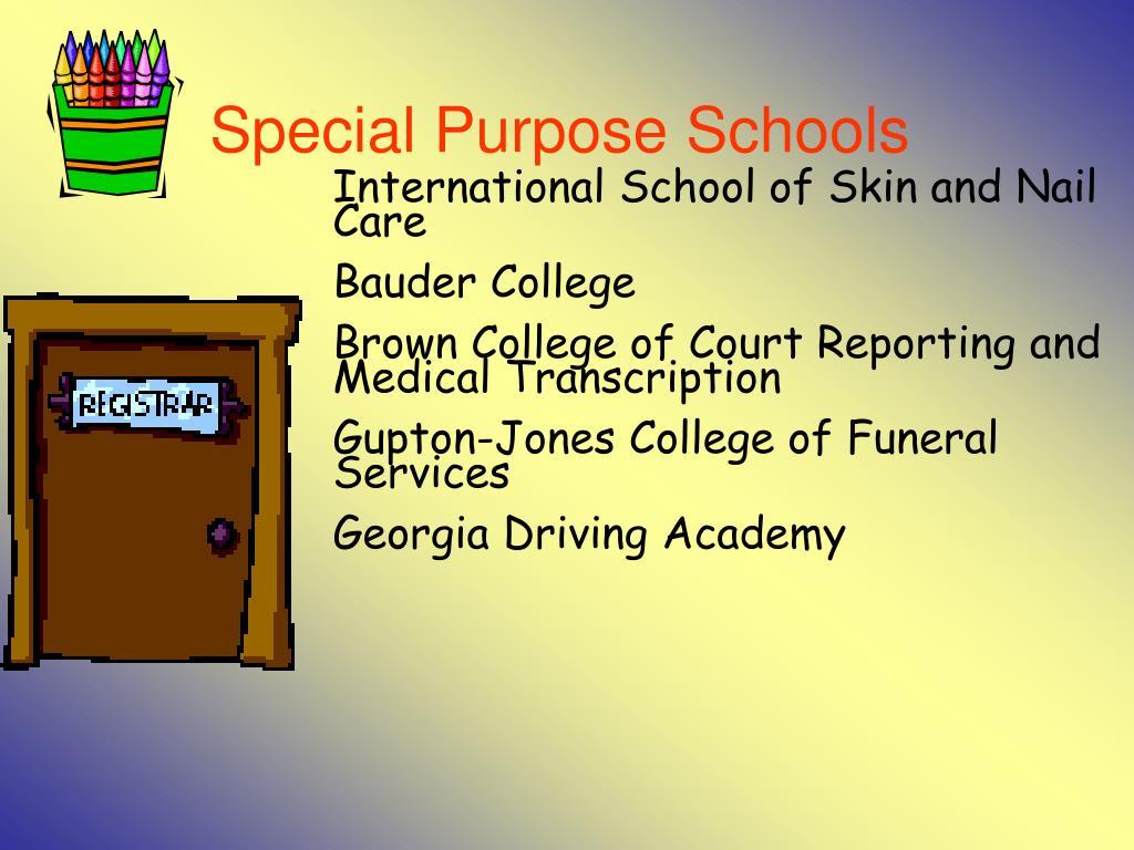 Special Purpose Schools
