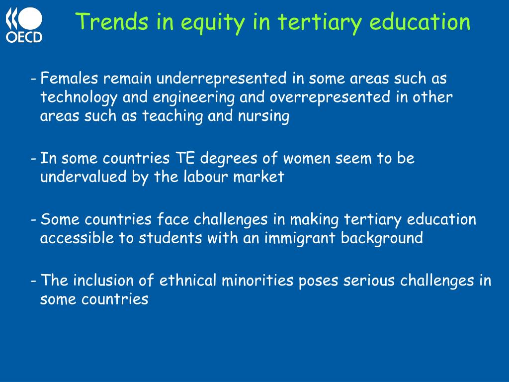 Trends in equity in tertiary education