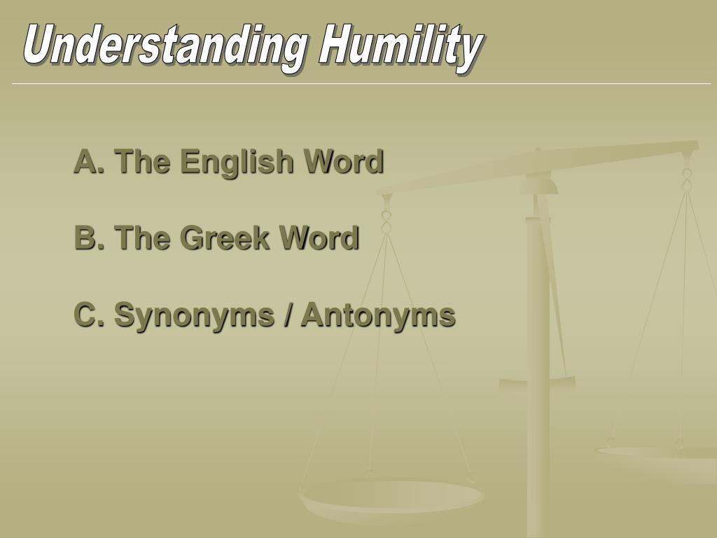 Understanding Humility