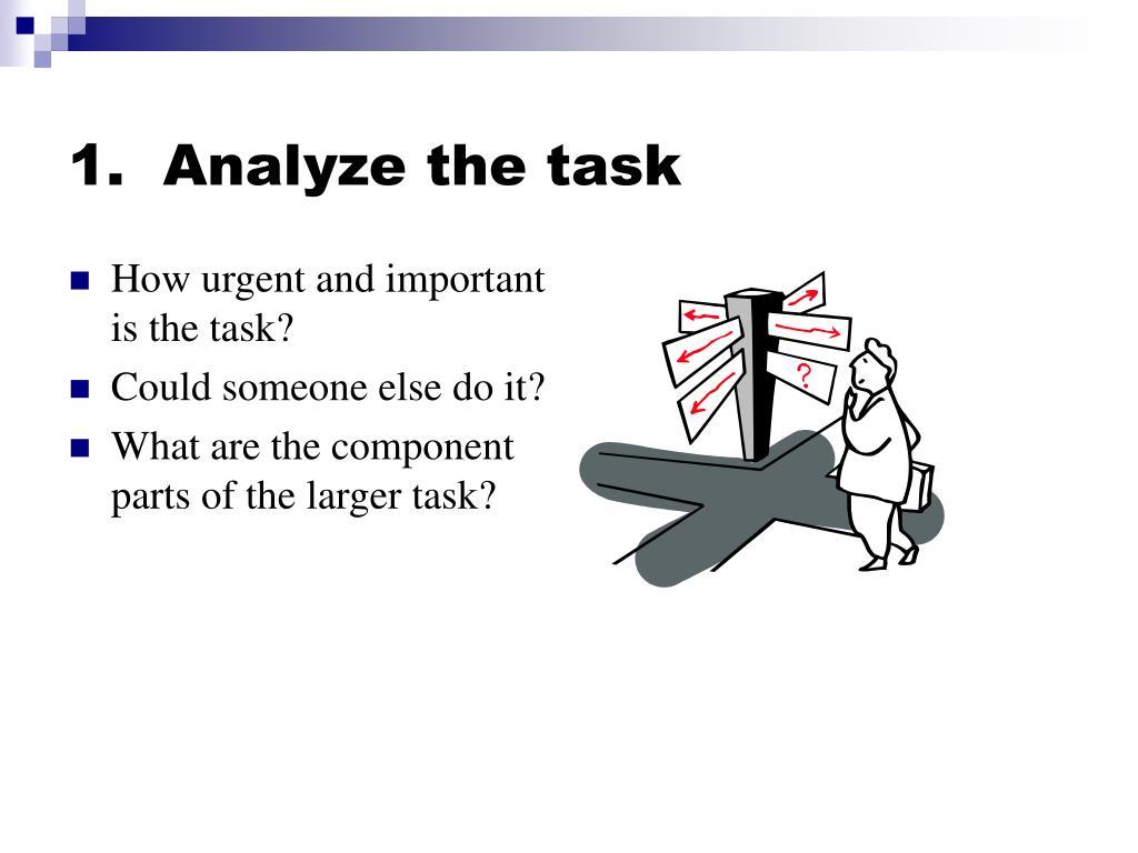 1.  Analyze the task