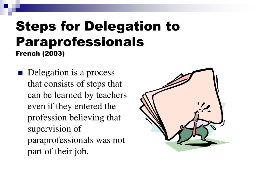 Steps for Delegation to Paraprofessionals