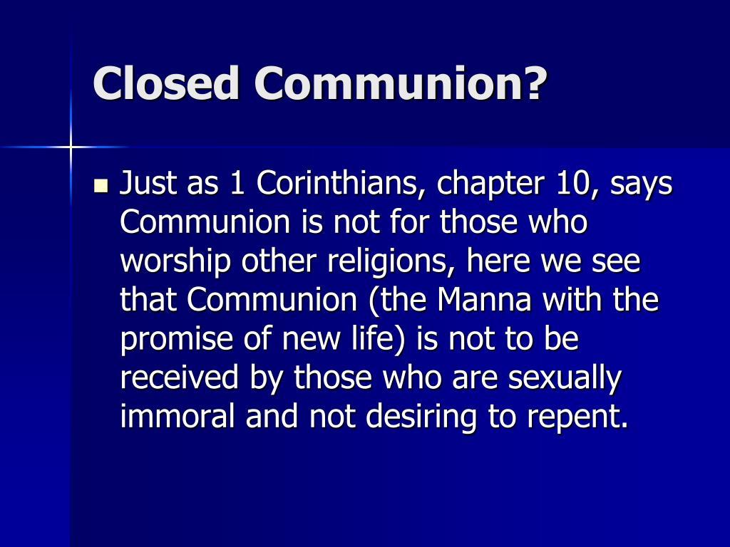 Closed Communion?