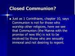 closed communion