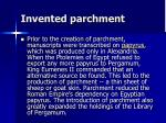 invented parchment5