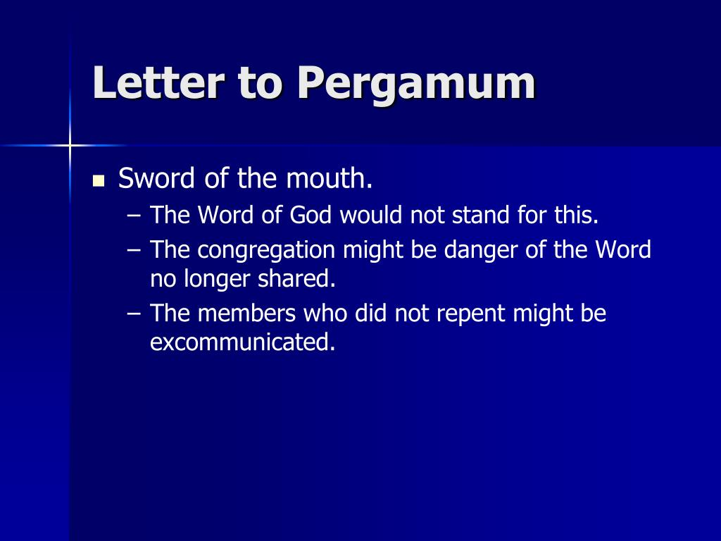 Letter to Pergamum