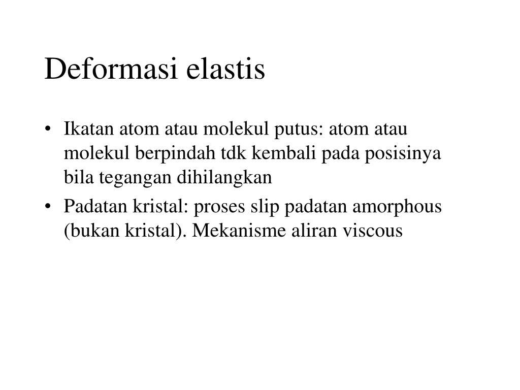Deformasi elastis