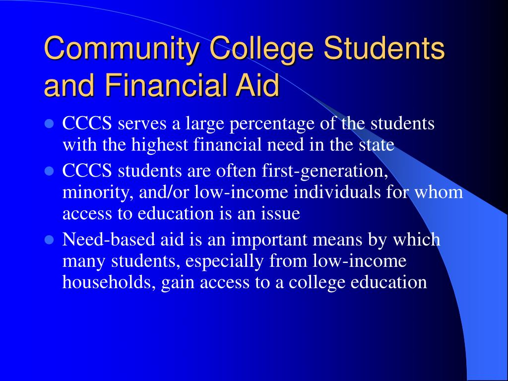 Community College Students and Financial Aid