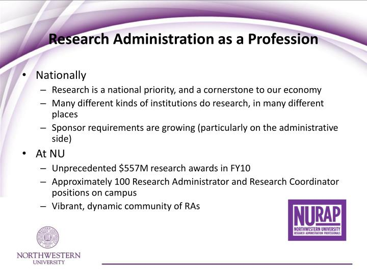 Research administration as a profession l.jpg