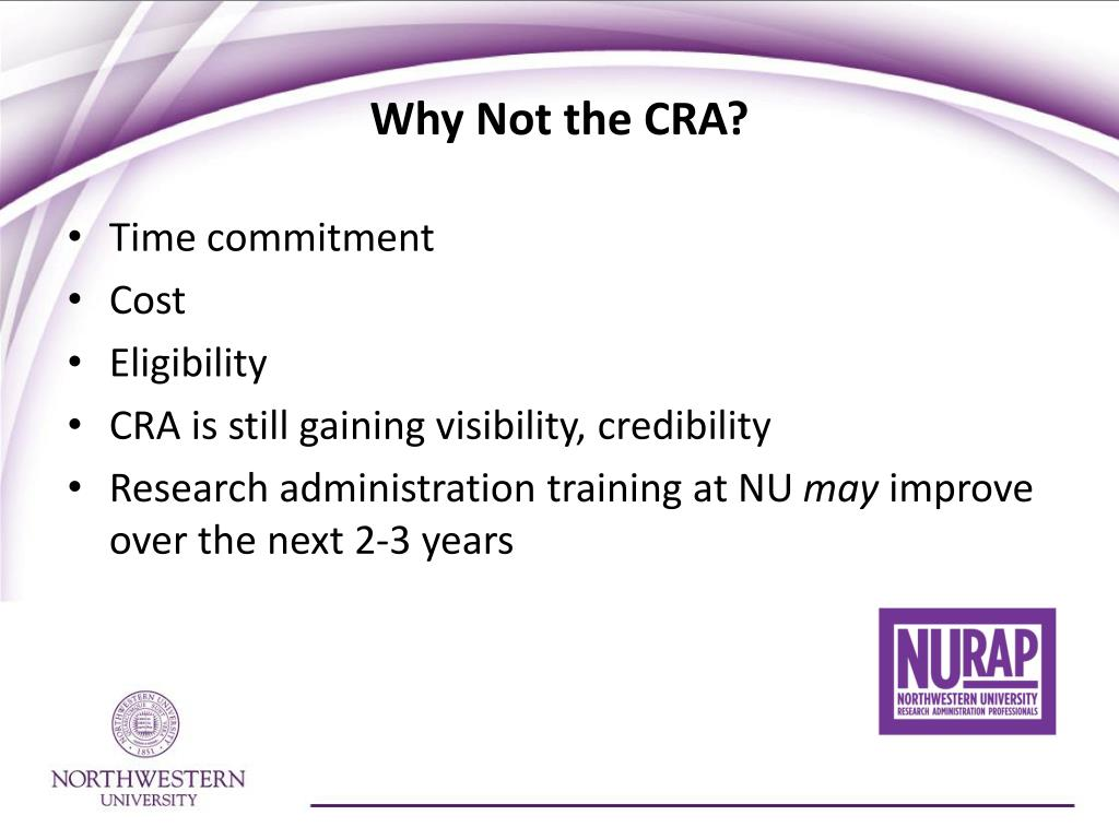 Why Not the CRA?