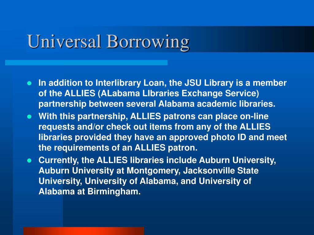 Universal Borrowing