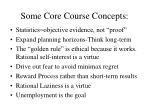 some core course concepts
