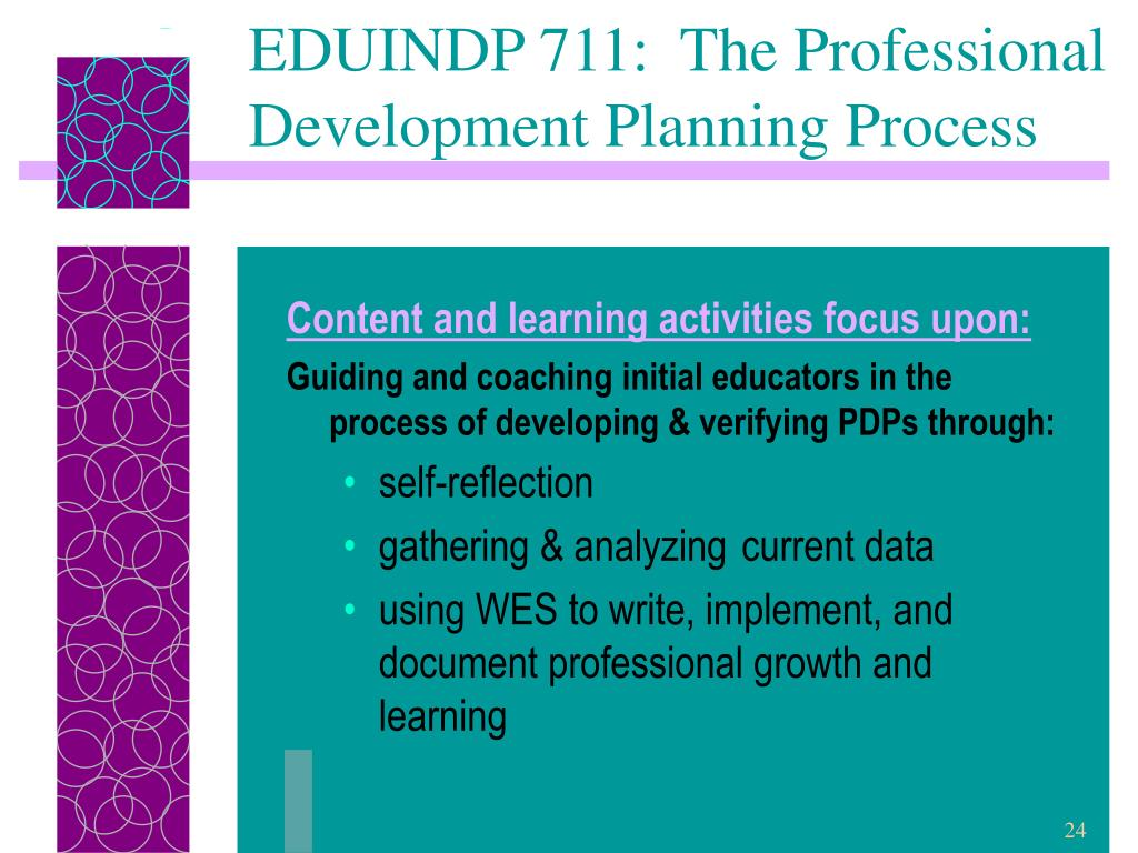 EDUINDP 711:  The Professional Development Planning Process