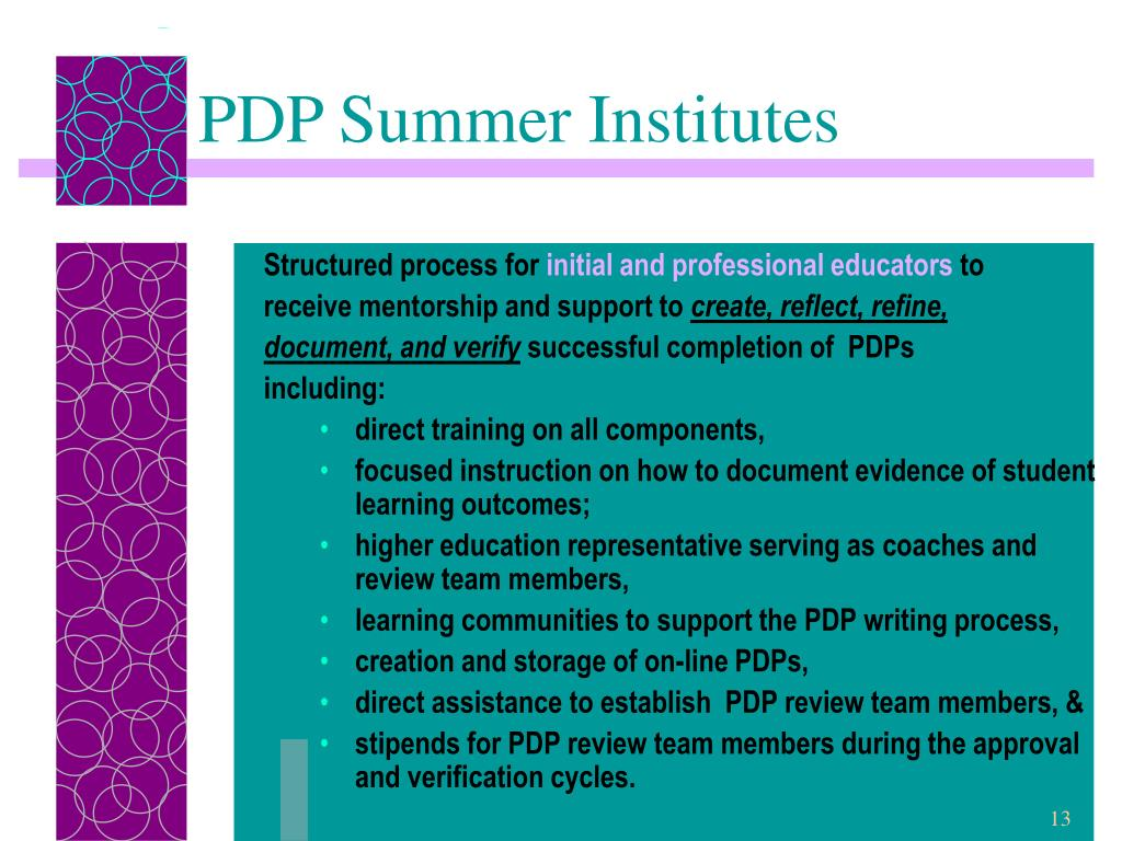 PDP Summer Institutes