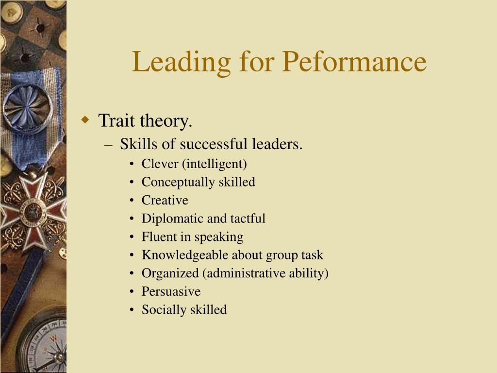 Leading for Peformance