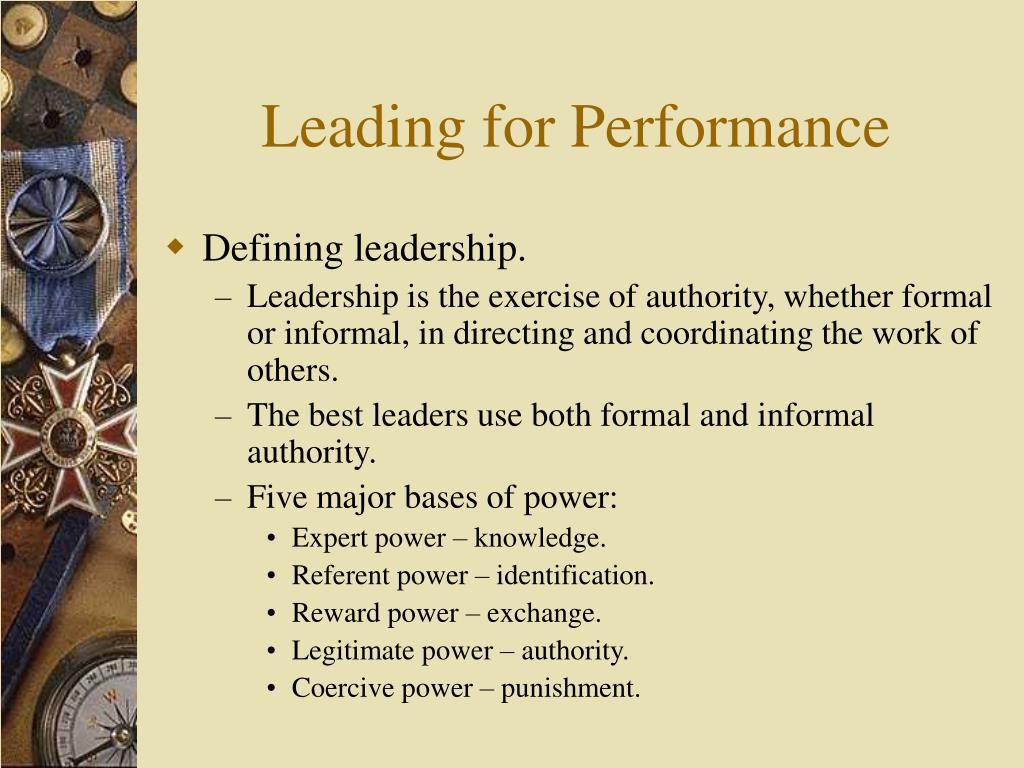 Leading for Performance