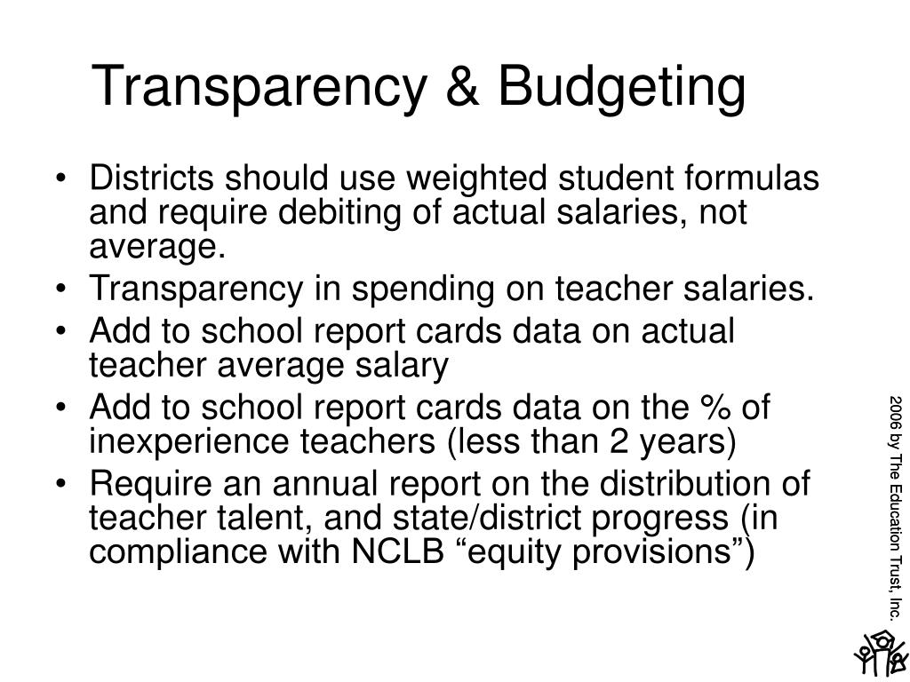 Transparency & Budgeting