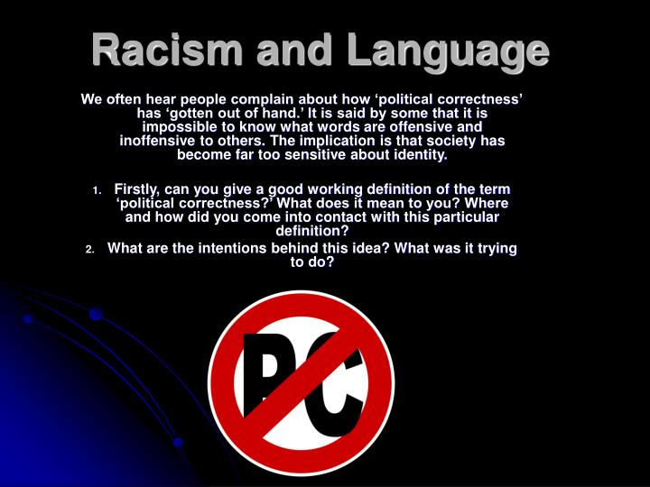 Racism and language l.jpg
