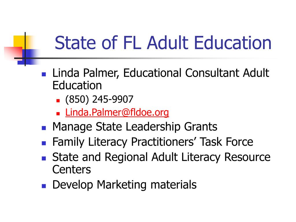 State of FL Adult Education