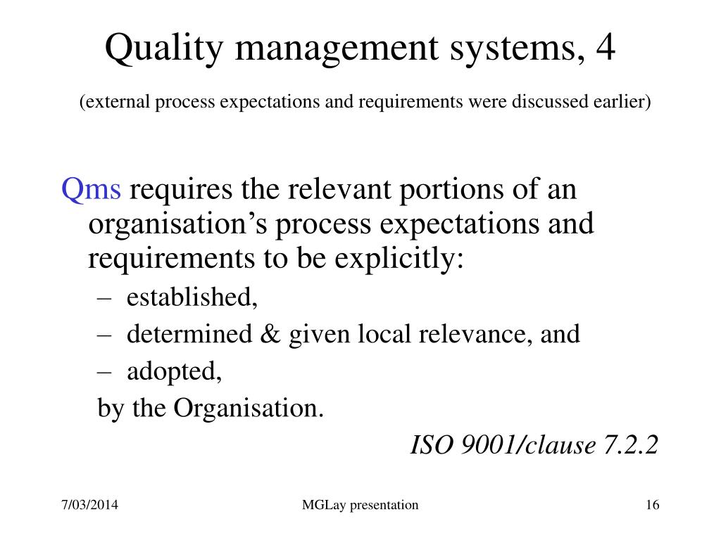 Quality management systems, 4
