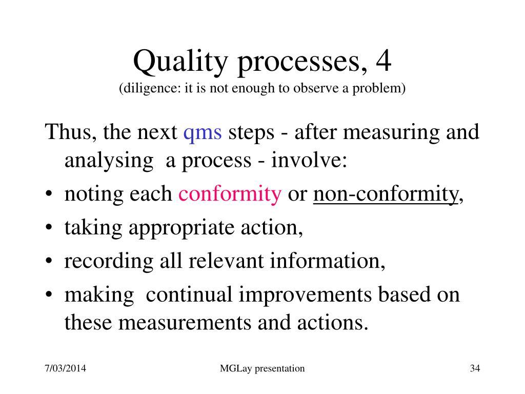 Quality processes, 4