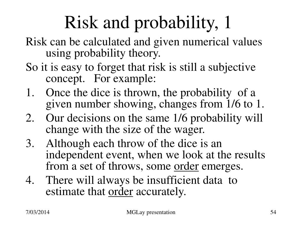 Risk and probability, 1