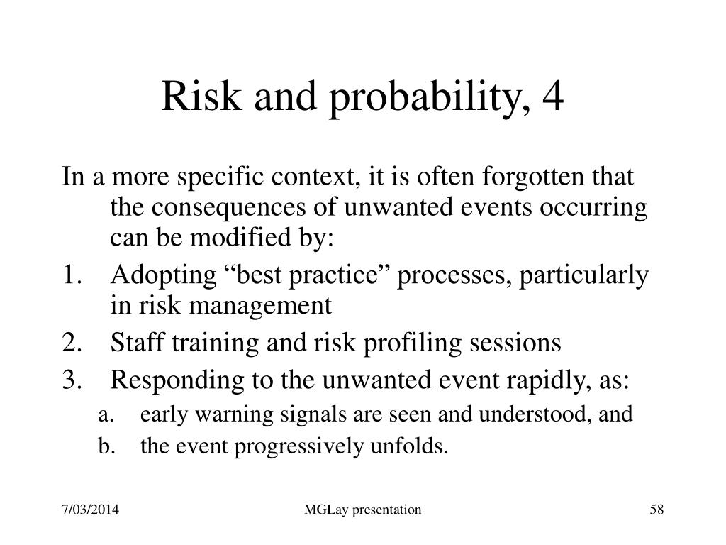 Risk and probability, 4
